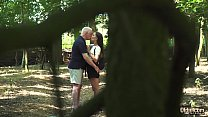 Russian Teen Romantic Sex with old man horny an...