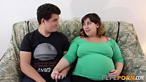 Small Dicked Dude Loves Banging Her PREGGO BBW