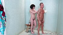 Olive Glass does her first nuru massage
