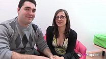 I sell my girlfriend to Jordi! Young couple's first cuckold scene thumbnail
