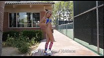 Tiny4k Soccer cutie long dick gym fuck with Scarlett Sage Image