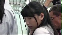This sensitive Asian girl was molested in the train