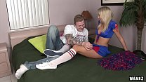 WANKZ- Blond Cheerleader Creampied