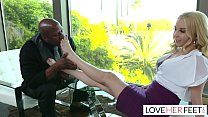 Aaliyah Love Interracial Footjob Interview With New Boss Image