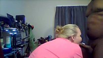 BBW Swallows BBC with no Hands