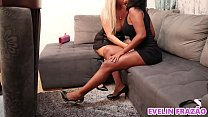 Evelin Frazão's 1st time with a call girl in my own house