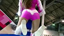Streaptease sexy dress mini skirt atlas satin silk Russian Ukrainian lady leather panties's Thumb