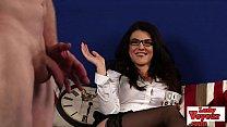 British spex femdom blackmails JOI loser