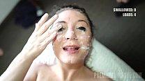 Premium Bukkake - JoJo Kiss swallows 11 big cum loads in facial gangbang Vorschaubild