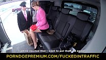 VIP SEX VAULT - Secretary Chrissy Fox fucked on the way to work Preview