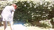Your m. sluts in the garden sunbathing with her big diaper full of piss