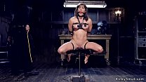 Busty Milf tormented in device bondage Preview