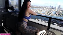 BIG TIT BIG Thick ASS Anal MILF Gets Horny Looking At Her Balcony View So She Wants To Get Fucked In The ASS Hard Until He Cums In Her Anal - Melody Radford