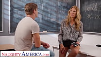 Naughty America - Mrs. Rider gets blackmailed into having sex with her student