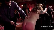 Bdsm orgy party with latex and spanking thumbnail