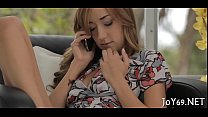 Legal age teenager beauty toys herself hard