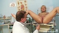 Mature Romana has old pussy gyno speculum examined صورة