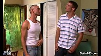 Excited gay gets banged and cummed