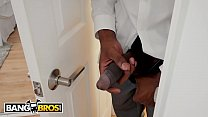 BANGBROS - Young Ebony Babe Julie Kay Rides Her Step Father's Big Black Cock