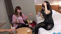 Bedroom porn scenes in threesome with Ria - More at javhd.net