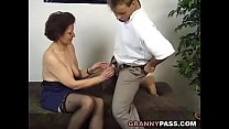 Surprise Threesome With A German Granny pornhub video