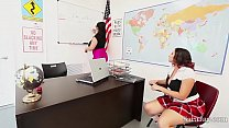 Teacher sara jay fuck pupil gia in class Preview