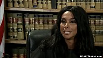 Latina shemale judge fucks offender