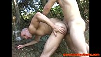 Barebacking latinos fuck in the forest