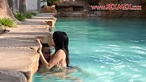 Hot Latina teen Janeth Rubio takes a cock in her tight wet pussy in the pool thumbnail