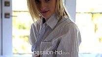Passion-HD Teen wearing her man's shirt gets pounded Image