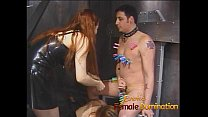 Two mistresses team up and dominate Felix in the dungeon-6 thumbnail