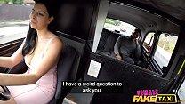 Female Fake Taxi Kira McQueen rides a big black...
