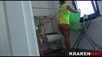 Hot Milf Coral Joice in a voyeur xxx video