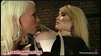Lorelei Lee strapon fucks blonde tranny
