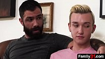 His stepdad understands the s.'s attraction to older guys, so he invites him to join in on a nasty threesome with the older guy next door