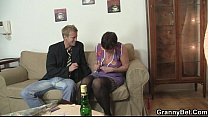 Old chick jumping on his big meat Preview