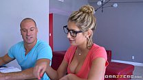 Brazzers - Sexy nerd August Ames needs a study