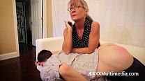 MILF Leilani Lei Spanks Her Son's Butt and Punishes Him