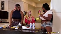 Kenzie Reeves, Jayden Starr & Victoria Cakes Interracial Lesbian Sex pornhub video