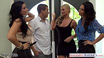 Wives Jessica Jaymes, Phoenix Marie and Romi Rain fuck in foursome