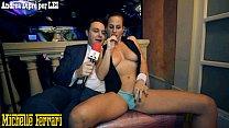 Pornstar Michelle Ferrari does taste her pussy to Andrea Diprè صورة