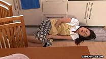 Nanako has a nice time as she carrot masturbates