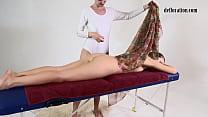 Tight virgin pussy babe Nikita Jankovska massaged