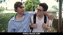 BrotherCrush - Hunky Pretty Boy Sucks His Little Stepbrother's Cock