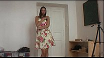Beautiful teen brunette plays with horny guy
