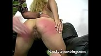 A cute rear get some hard hand spanking's Thumb