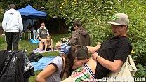 big ass mom: Outdoor SEX Orgy During the Garden Party thumbnail