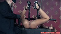 Fingered MILF submits to her sadist maledom
