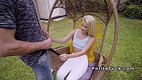 Screenshot Blonde spinner  in white leggings banging gs banging
