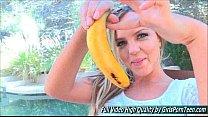 Addison IV outside blonde mature fingers banana